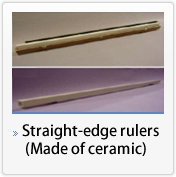 Hollow straight ruler